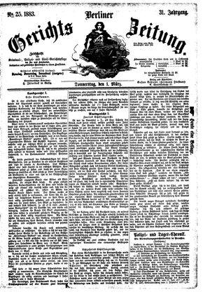 Berliner Gerichts-Zeitung vom 01.03.1883
