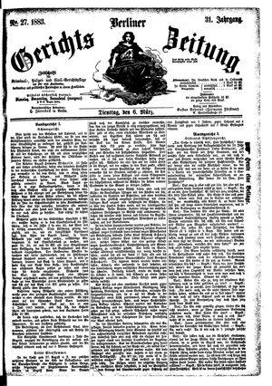 Berliner Gerichts-Zeitung vom 06.03.1883