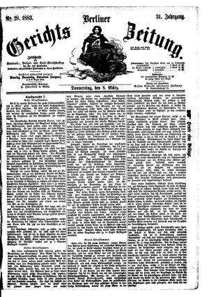 Berliner Gerichts-Zeitung vom 08.03.1883