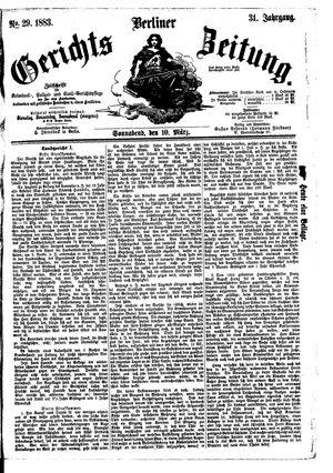 Berliner Gerichts-Zeitung vom 10.03.1883