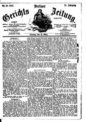 Berliner Gerichts-Zeitung vom 13.03.1883