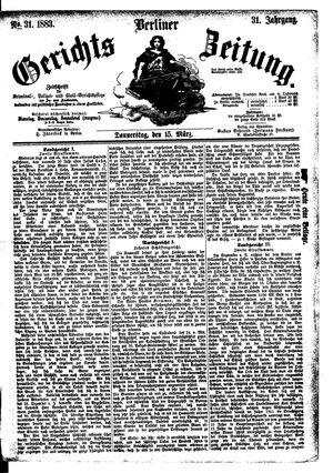Berliner Gerichts-Zeitung vom 15.03.1883