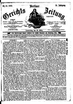 Berliner Gerichts-Zeitung vom 22.03.1883