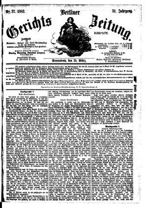 Berliner Gerichts-Zeitung vom 31.03.1883