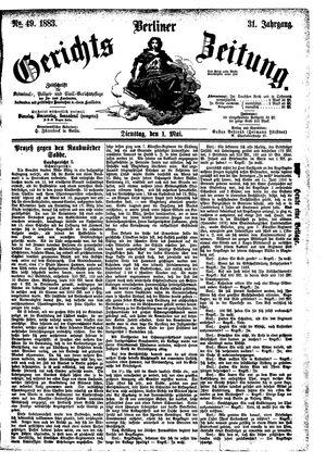 Berliner Gerichts-Zeitung vom 01.05.1883
