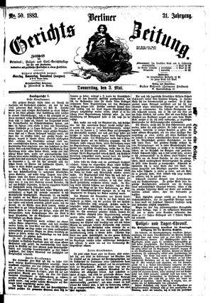 Berliner Gerichts-Zeitung vom 03.05.1883
