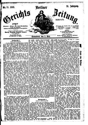 Berliner Gerichts-Zeitung vom 05.05.1883