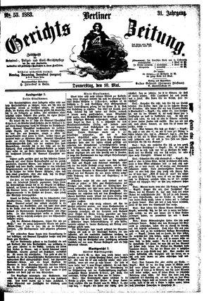 Berliner Gerichts-Zeitung vom 10.05.1883
