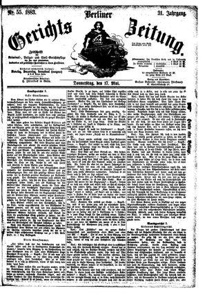 Berliner Gerichts-Zeitung vom 17.05.1883