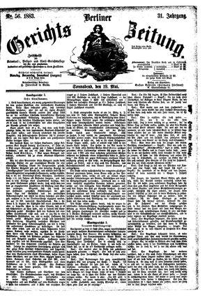 Berliner Gerichts-Zeitung vom 19.05.1883