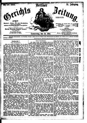 Berliner Gerichts-Zeitung vom 24.05.1883