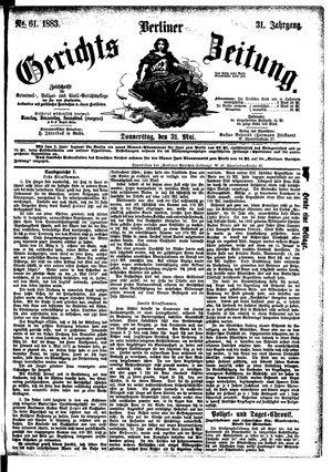 Berliner Gerichts-Zeitung vom 31.05.1883