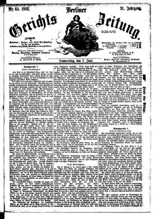 Berliner Gerichts-Zeitung vom 07.06.1883