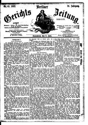 Berliner Gerichts-Zeitung vom 09.06.1883