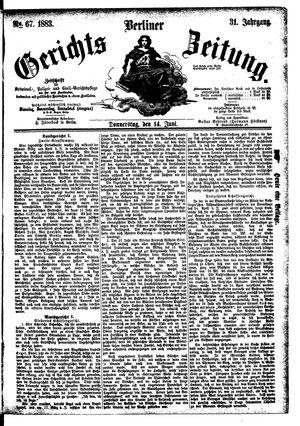 Berliner Gerichts-Zeitung vom 14.06.1883