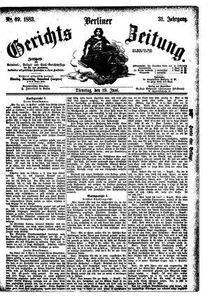 Berliner Gerichts-Zeitung vom 19.06.1883