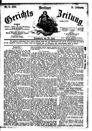 Berliner Gerichts-Zeitung vom 23.06.1883