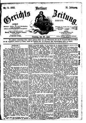 Berliner Gerichts-Zeitung vom 26.06.1883