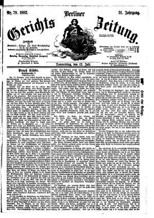Berliner Gerichts-Zeitung vom 12.07.1883