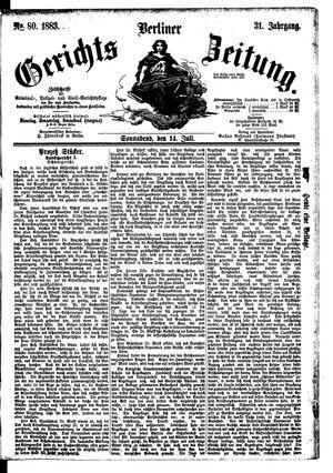 Berliner Gerichts-Zeitung vom 14.07.1883