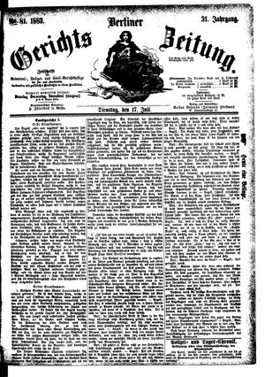 Berliner Gerichts-Zeitung vom 17.07.1883