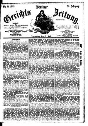 Berliner Gerichts-Zeitung vom 19.07.1883