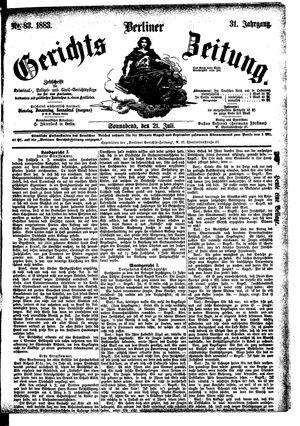 Berliner Gerichts-Zeitung vom 21.07.1883