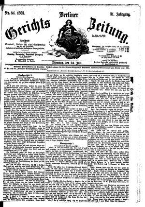 Berliner Gerichts-Zeitung vom 24.07.1883