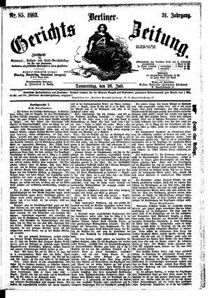Berliner Gerichts-Zeitung vom 26.07.1883