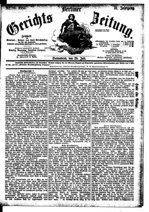 Berliner Gerichts-Zeitung vom 28.07.1883