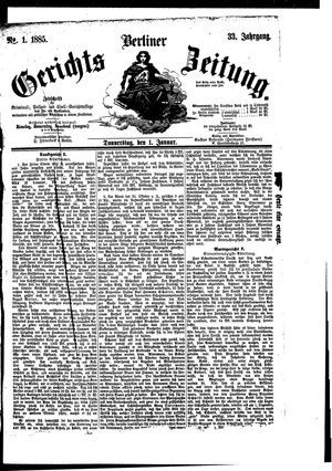 Berliner Gerichts-Zeitung vom 01.01.1885