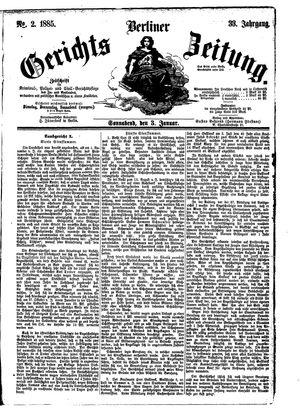 Berliner Gerichts-Zeitung vom 03.01.1885