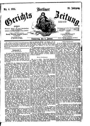 Berliner Gerichts-Zeitung vom 08.01.1885