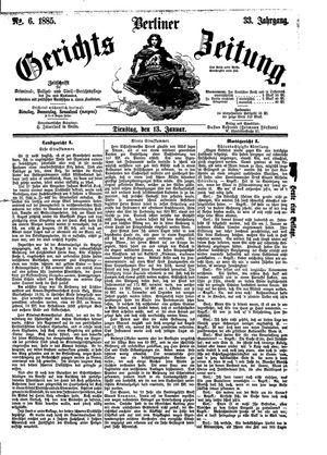 Berliner Gerichts-Zeitung vom 13.01.1885