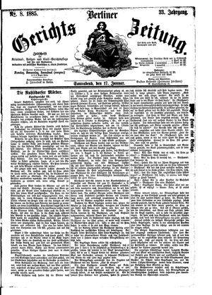 Berliner Gerichts-Zeitung vom 17.01.1885