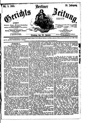 Berliner Gerichts-Zeitung vom 20.01.1885
