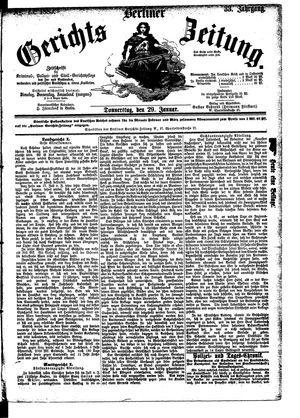 Berliner Gerichts-Zeitung vom 29.01.1885