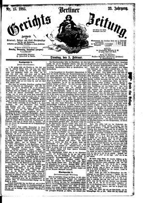 Berliner Gerichts-Zeitung vom 03.02.1885