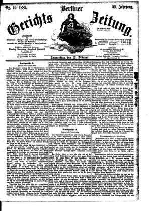 Berliner Gerichts-Zeitung vom 12.02.1885
