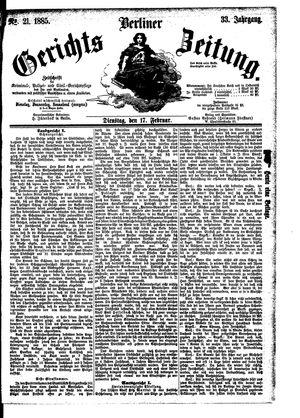 Berliner Gerichts-Zeitung vom 17.02.1885