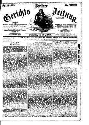 Berliner Gerichts-Zeitung vom 19.02.1885