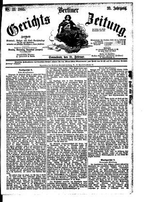Berliner Gerichts-Zeitung vom 21.02.1885