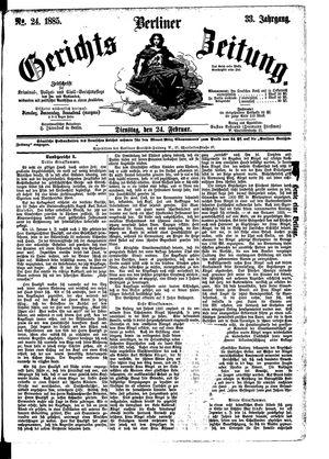 Berliner Gerichts-Zeitung vom 24.02.1885
