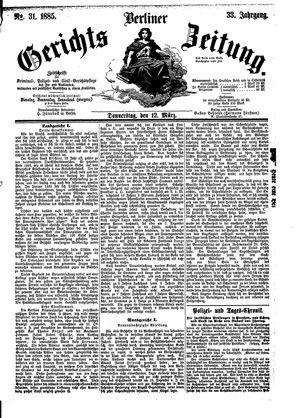 Berliner Gerichts-Zeitung vom 12.03.1885