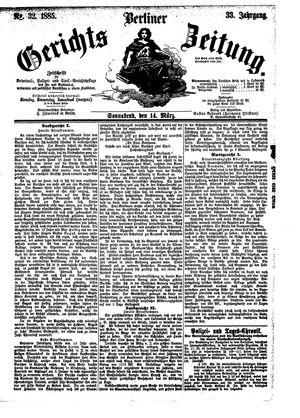 Berliner Gerichts-Zeitung vom 14.03.1885