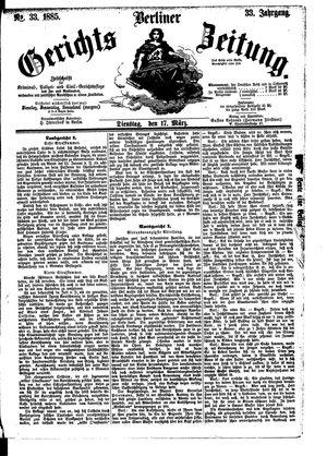 Berliner Gerichts-Zeitung vom 17.03.1885