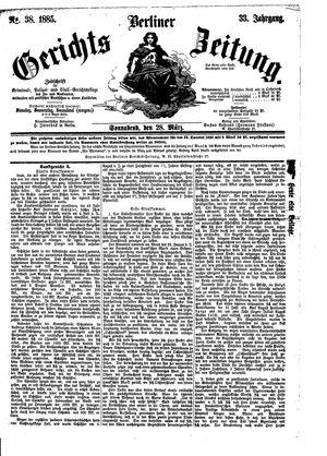 Berliner Gerichts-Zeitung vom 28.03.1885