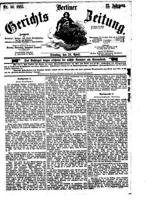 Berliner Gerichts-Zeitung vom 28.04.1885
