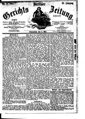 Berliner Gerichts-Zeitung vom 02.05.1885