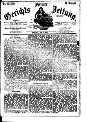 Berliner Gerichts-Zeitung on May 5, 1885
